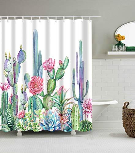 Cactus Shower Curtain Set