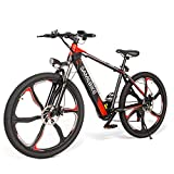 SAMEBIKE Ebike Bicicleta Electrica Montañade, 26 Pulgadas Mountain Bike para Adultos Motor 350W 48V 8AH, Bicicletas Eléctricas Hombre Mujer I Shimano 7 Cambio de Marcha