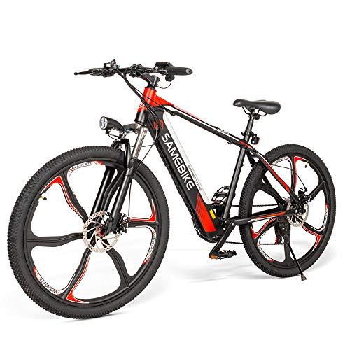 SAMEBIKE Ebike Elektrisches Mountainbike, 26 Zoll Mountainbike für Erwachsene 350W 48V 8AH, Elektrische Fahrräder Herren Damen I Shimano 7 Gang-Schaltung