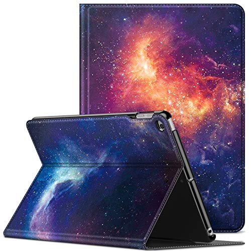 INFILAND iPad air 2 Cases, iPad Case 9.7 inch 2018, iPad air Case, iPad 9.7 inch Case, iPad 6th Generation Case, Multi-angle Front Support Case compatible with Auto Sleep/Wake Function, Galaxy