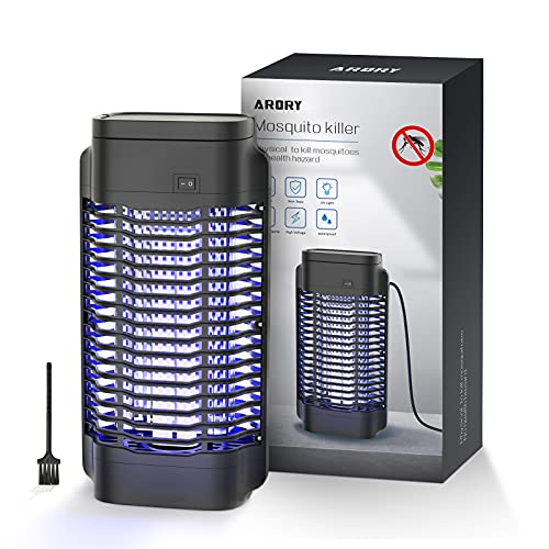 ARORY Lámpara Antimosquitos Eléctrico UV 18W, 1800V LED Mosquito Lámpara Trampa con...
