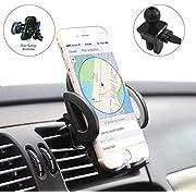 MAISAO Handyhalterung Auto Lüftung,Universale Autohalterung Phone Halter /360 Grad Flexibler Drehung/Verstellbare Seitengriff/Anti-Rutsch Material,Kompatibel für iPhone8/7/6 Samsung und mehr