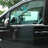 Para VITO W638 Marco de ventana de acero inoxidable cromado 2 piezas (1996-2003)