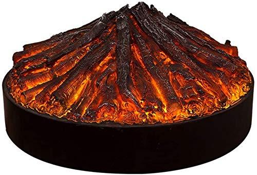Chimenea Estufa Calentador Efecto de Llama Eléctrico Independiente Quema de carbón para la decoración de la Entrada del Dormitorio 800x410mm