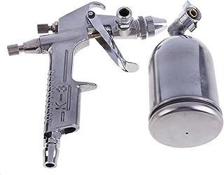 Sandblasting Gun Spray Tool, Gravity Feed Hand Held Sand Blaster for Air Compressor, Adjustable Pneumatic Small Sandblaste...