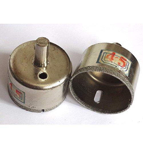 45 mm et 50 mm à pointe diamant Core perceuses Scie-cloche Foret à verre 2 pièces Ensemble