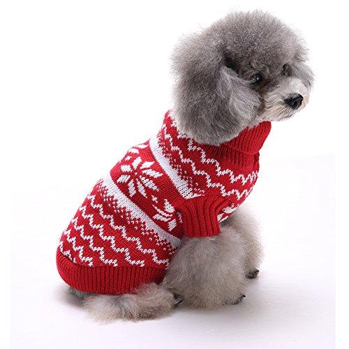 Tuopuda Navidad Mascotas suéter...