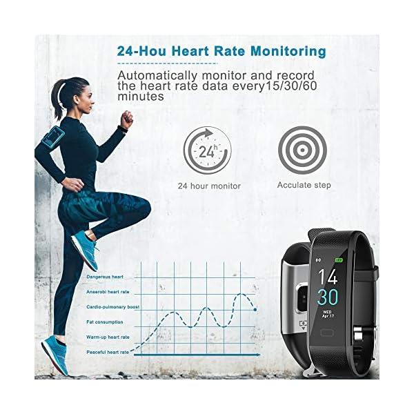 Pulsera de Actividad, Inteligente Reloj Deportivo, IP68 para Hombre Mujer con GPS Monitor de Sueño Podómetro Contador… 4