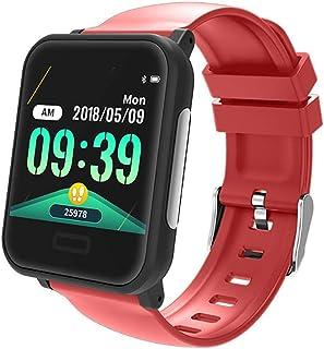WF Pulsera Inteligente Tension Arterial, Impermeable IP67 Pantalla Color Podómetro Pulsómetro Monitor Calorías Sueño Android iOS Hombre Mujer Negro Pulsera Actividad Inteligente,