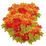 400 Stück Künstliche Ahornblätter Herbstlaub Kunst Farben Simulation Ahornblatt Perfekte Herbst Dekoration,Herbst Hochzeit Dekorationen-4 Farben - 7