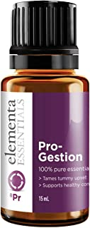 Elementa Essentials Pro-gestion Digestive Essential Oil Blend 15 mL | Supports Digestion & Soothes Upset Stomach | 100% Pure Undiluted | Motion sickness, digest ease, bloating, gas, heartburn, cramps