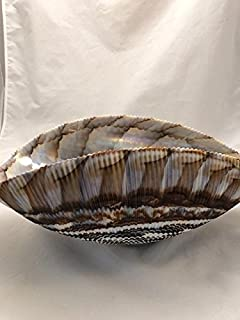 Murano Glass Ivory and Brown Shell Bowl