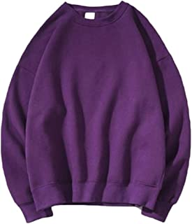 RkYAO Men's Baggy Crewneck Pure Classic Sports Pullover Tracksuit Top