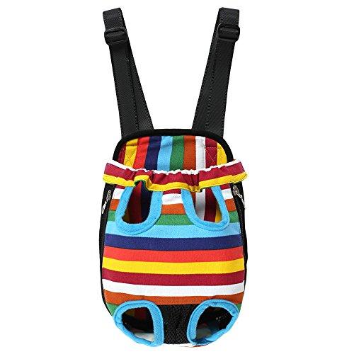 Homdox vorne Hunderücksack Hundetragetasche Doppel-Schulter Transporttasche für kleine Hunde Tragetasche Katze