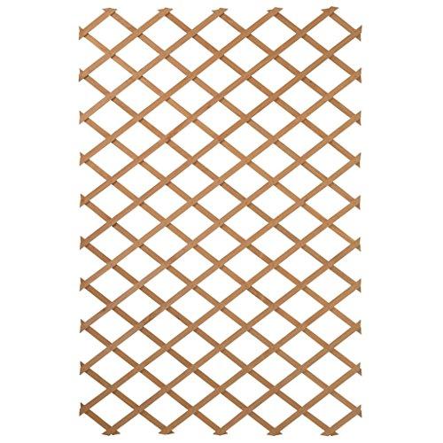 treillis extensible en bois naturel - fsc label, lattes 18 x 6 mm - 50 x 150 cm