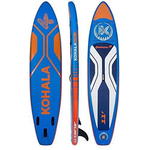 KOHALA Tabla de Paddle Surf Arrow 2 Color Azul - Tipo Allround - Capacidad Máxima 150 kg - Aletas 3 (2+ 1)