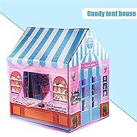 LWCHJ ゲームハウスプレイテントガールプリンセス屋内屋外玩具携帯用折りたたみ式秘密庭園プレイボールピットプールおもちゃ子供の子供 ( Color : Dessert )