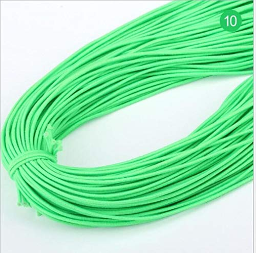 Hoge 20yards 1 mm Aantal elastische band om haarkleur elastiek strekt de rubberen band line DIY naaiaccessoires,10 Green Grass,20 yards