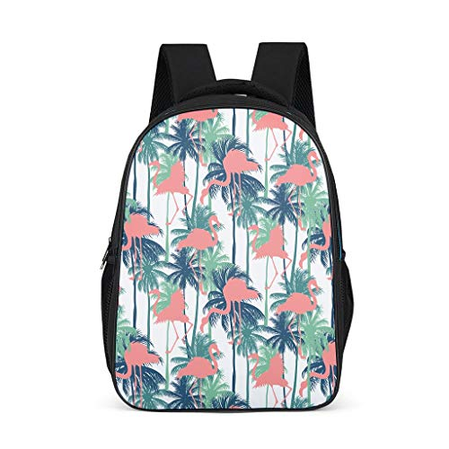 Flamingo Little Kid's Kindergarten Backpack Large All Over Print for Gift Flamingo grey onesize