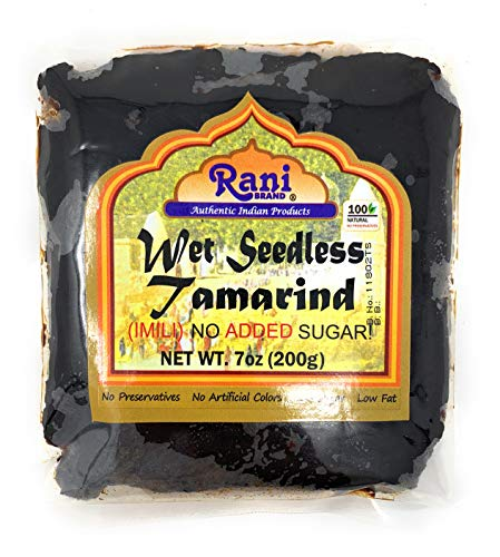 Rani Tamarind, Wet Seedless Block/Slab (Imli) 7oz (200g) ~ All Natural | No added sugar | Vegan | Gluten Free | NON-GMO | Indian Origin