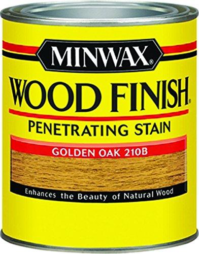 Minwax 22102 1/2 Pint Golden Oak Wood Finish Interior Wood Stain