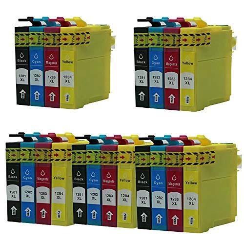 ZYL - Cartuchos de tinta de repuesto para Epson T1285 Stylus S22 SX125 SX130 SX230 SX235W SX420W SX425W SX430W SX435W SX438W SX440W SX445W SX445WE Office BX305F BX305FW BX305FW Plus (20 unidades, 5 unidades)