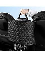URAQT Organizer samochodowy, uchwyt na torebkę samochodową ze skóry PU, kieszeń do przechowywania samochodu dla zwierząt domowych na tylnym siedzeniu, torba do przechowywania przedniego fotela, między dwoma siedzeniami, pasuje do większości pojazdów