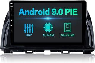 Dasaita 25,7 cm (10,2 Zoll) Android 10.0 Bluetooth Autoradio mit integriertem Carplay für Mazda CX 5 CX5 2013 2015 Autoradio mit GPS 4G/64G Unterstützung WiFi Dab+ FM / AM Lenkradfernbedienung USB