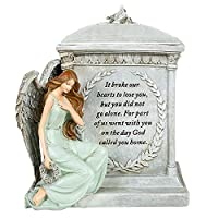 God Called You Home Forever with Angels 8.5 inch Resin Stoneware Decorative Memorial Urn