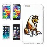 Reifen-Markt Hard Cover - Funda para teléfono móvil Compatible con Samsung Galaxy S3 Mini Perro del Border Collie Raza Cuidado Entrenamiento de la casa Perros PERR