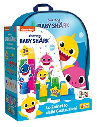 Liscianigiochi Shark Zainetto Costruzioni Baby 36 Pezzi, 83770