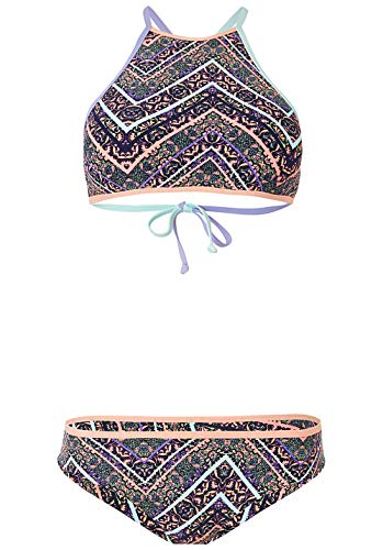 O'Neill Damen PW Lanka Maoi All Over Print Bikini Set, Blau Pink, 38