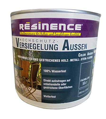 Resinence 250ml, Hochschutz-Versiegelung Aussen, Farblos, Matt