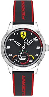 Ferrari Unisex-Adult Quartz Watch, Analog Display and Silicone Strap 860003