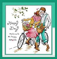 クロスステッチ刺繍キット 図柄印刷 初心者 ホームの装飾 刺繍糸 針 布 11CT Cross Stitch ホームの装飾 ロマンチックなキス 40x50cm