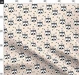 Waschbären, Panda, Pandas, Dreieck, Elvelyckan Stoffe -