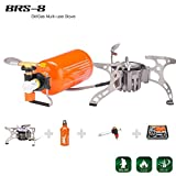 BRS Portable Fuel Outdoor Backpacking Furnace Oil/Gas Multi-Use Stove Camping Stove Picnic Gas Stove Cooking Stove 8