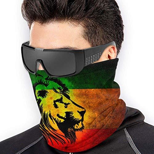 Calentador de Cuello Cubierta a Prueba de Viento Cubierta Facial sin Polvo UV - Rasta Lion Bandera de Jamaica