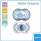 MAM Original 6+ (2 unidades), Chupete ortodóntico para una dentición correcta,...