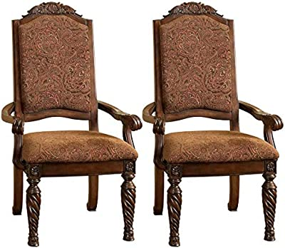 Amazon.com: Muebles de América Evangeline Side – Juego de 2 ...