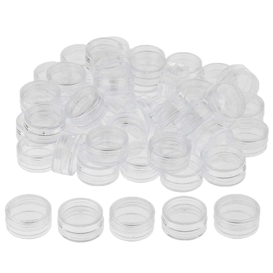 FLAMEER 約50個 化粧ポット ローションジャー クリーム コスメ 空容器 サンプルボトル 3サイズ選べ - 5g