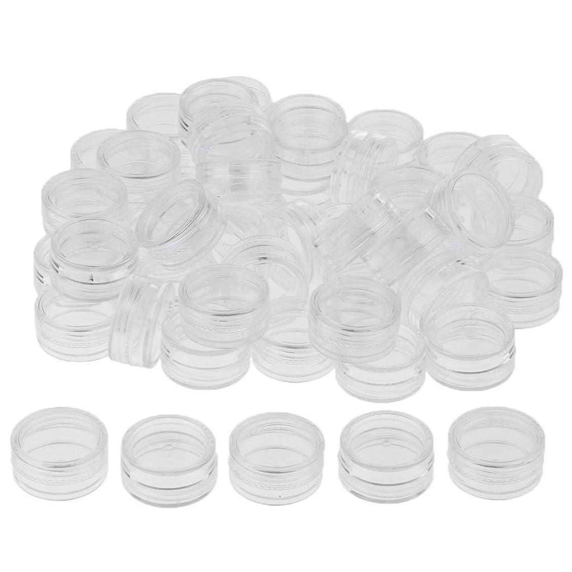 薬に賛成ピルファーP Prettyia クリームジャー クリームケース 化粧品 小分け 詰替え 容器 約50個 - クリア