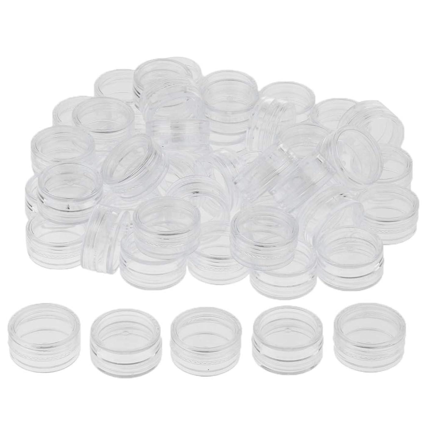 チャンピオンシップ接ぎ木地上でP Prettyia クリーム 容器 化粧ポット 小分け容器 サンプルボトル コスメ詰替え容器 約50個 3サイズ選べ - 3g