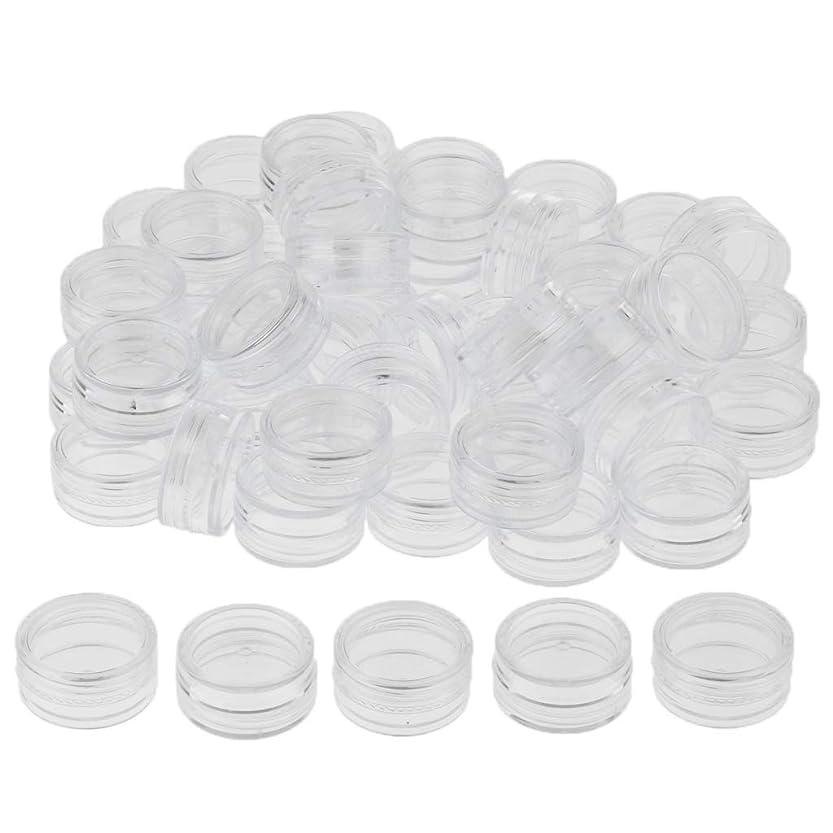 可愛いサービス量でP Prettyia クリーム 容器 化粧ポット 小分け容器 サンプルボトル コスメ詰替え容器 約50個 3サイズ選べ - 3g
