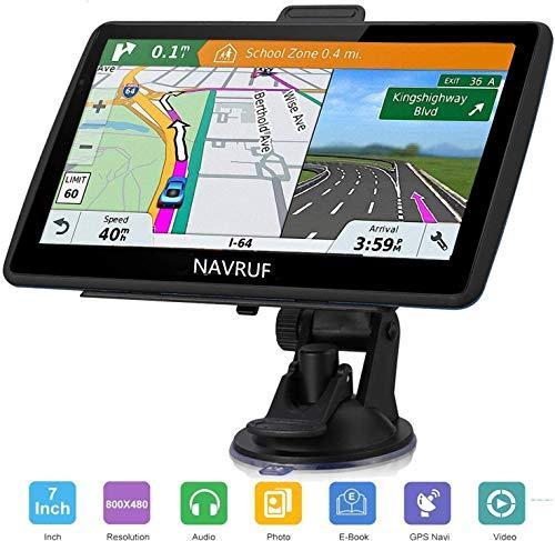 Navigatore satellitare per auto camion,7 pollici con aggiornamento gratuito a vita delle ultime mappe EU 2020 per il Regno Unito, include avvisi per autovelox con ricerca