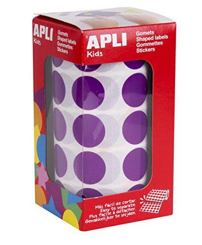 APLI Kids Rouleau de gommes rondes Violet 20 mm