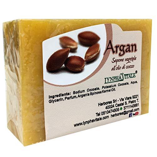 Natuurlijke zeep - Pure plantaardige arganolie zeep - Organische zeep voor de huid - Hydraterende zeep voor gezicht en lichaam - Handgemaakte Italiaanse zeep