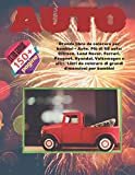 Grande libro da colorare per bambini - Auto. Più di 50 auto: Citroen, Land Rover, Ferrari, Peugeot, Hyundai, Volkswagen e altri. Libri da colorare di grandi dimensioni per bambini