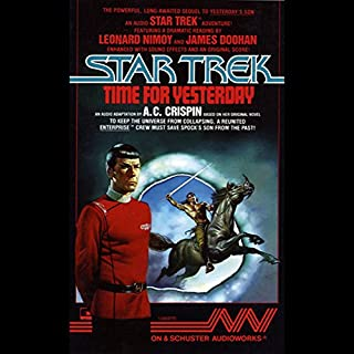Star Trek: Time for Yesterday audiobook cover art