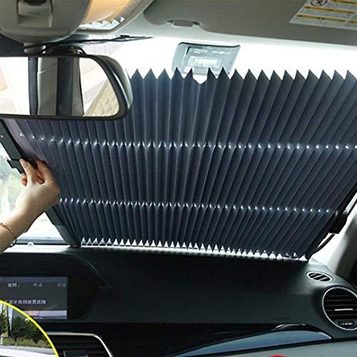 Auto Venster Zonnescherm Intrekbare Opvouwbare Voorruit Zonnescherm Cover Shield Gordijn Auto Zonnekap (Maat: 65cm dubbele draad doos)